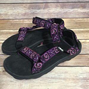 Teva purple swirl outdoor sandals - size 7